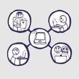社区图标互联网集 免版税库存图片