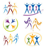 社区图标网络集合社会体育运动 免版税库存照片