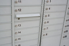 社区邮箱 图库摄影