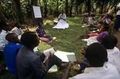 社区援权项目,乌干达。 库存图片
