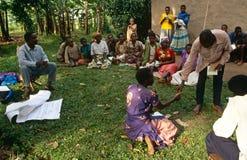 社区援权项目,乌干达。 库存照片