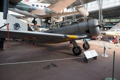 社论历史的北美T-6,古色古香的战斗机飞机 库存照片