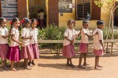 社论新闻纪录片的图象,印地安学校 免版税库存照片