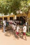 社论新闻纪录片的图象,印地安学校 库存照片