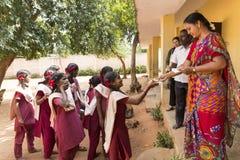 社论新闻纪录片的图象,印地安学校 图库摄影