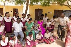 社论新闻纪录片的图象,印地安学校 免版税图库摄影