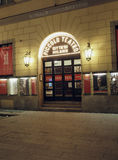 社论短笛剧院入口米兰意大利 免版税库存图片
