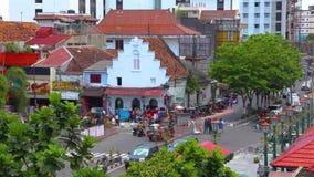 社论,俯视图在Malioboro Jogja交叉点的时间间隔 股票录像