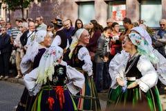 社论, 2015年10月4日:巴尔,法国:祝宴des Vendanges 库存图片