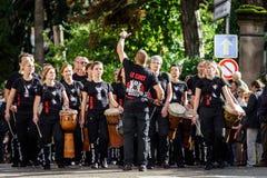 社论, 2016年10月02nd日:巴尔,法国:狂欢节和游行 库存照片
