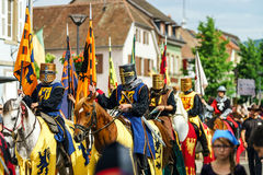 社论, 2015年6月14st日:Chatenois,法国:祝宴des Remparts d 免版税库存图片
