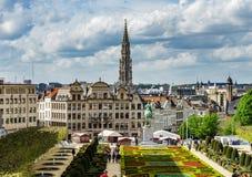 社论:2017年4月16日:布鲁塞尔,比利时 老结构 免版税库存照片