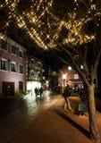 社论:2016年12月22日:科尔马,法国 圣诞节highlig 图库摄影