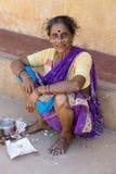 社论说明图象 可怜的工作者妇女在印度 图库摄影