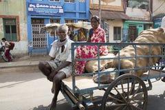 社论说明图象 周期运输在印度 免版税图库摄影