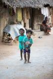社论说明图象 在街道,印度的childs 库存照片