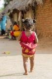 社论说明图象 在街道,印度的childs 库存图片