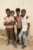 社论说明图象 在街道,印度的childs 免版税库存照片