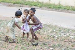 社论说明图象 在街道,印度的childs 免版税图库摄影