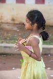 社论说明图象 在街道,印度的childs 图库摄影