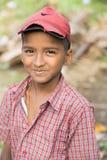 社论说明图象 微笑可怜的孩子,印度 免版税库存照片