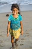 社论说明图象 微笑可怜的孩子,印度 免版税库存图片