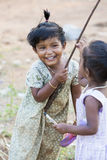 社论说明图象 微笑可怜的孩子,印度 库存照片