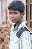 社论说明图象 微笑可怜的孩子,印度 库存图片