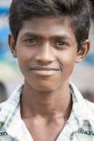 社论说明图象 微笑可怜的孩子,印度 免版税图库摄影
