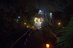 社论说明图象 村庄在夜之前在印度 库存图片