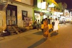 社论说明图象 村庄在夜之前在印度 免版税库存图片