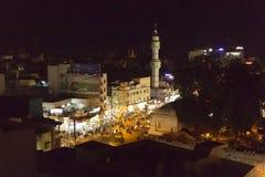 社论说明图象 村庄在夜之前在印度 库存照片