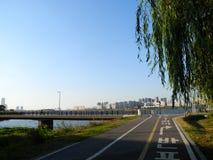 社论Hangang桥梁和Hangang公园 免版税库存图片