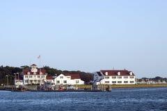 社论MONTAUK-JULY 23 :美国海岸卫队驻地 图库摄影