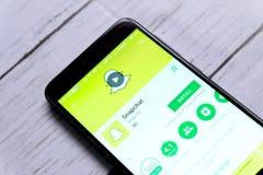 社论snapchat 免版税图库摄影