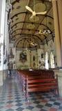 祈祷在圣洁念珠Kalawar教会曼谷里 免版税库存照片