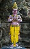 祈祷在斯里兰卡的一个印度人的雕象 图库摄影