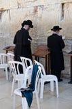 祈祷在西部墙壁 免版税库存照片
