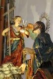 祈祷在Gethsemane庭院里的耶稣  免版税图库摄影