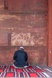 祈祷在Jama Masjid的人 免版税库存图片