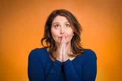 祈祷对妇女的神 免版税图库摄影