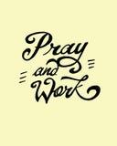 祈祷并且工作 库存例证