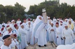 祈祷撒马利亚人shavuot 免版税库存图片