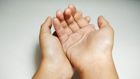 祈祷照片股票的两只手 免版税库存照片
