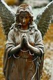 祈祷的冷的天使 免版税库存图片