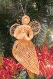 祈祷的天使圣诞树装饰 免版税图库摄影