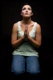 祈祷的妇女 库存图片