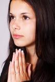 祈祷的妇女 库存照片
