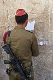 祈祷的战士 免版税图库摄影