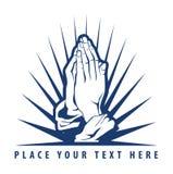 祈祷的手 免版税库存照片